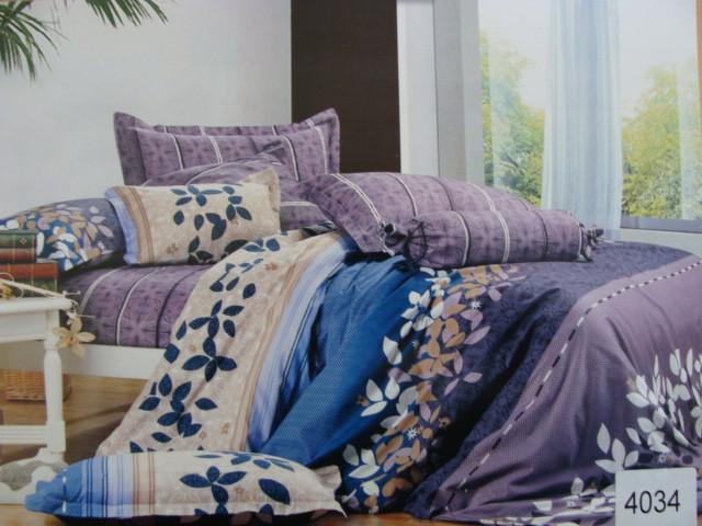 Сатиновое постельное белье семейное ELWAY 4034