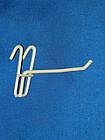 Крючёк на сетку (10 см. одинарный. металлопластик. прут 5.3 мм)