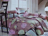 Сатиновое постельное белье семейное ELWAY 4062