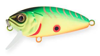 Воблер Strike Pro Stumpy Fly 40 плавающий с мухой 4,2см 4,5гр Загл. 0,1м -0,3м#A17