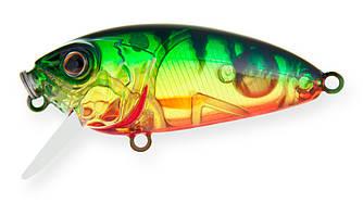 Воблер Strike Pro Stumpy Fly 40 плавающий с мухой 4,2см 4,5гр Загл. 0,1м -0,3м#A102G