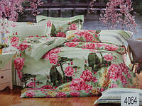 Сатиновое постельное белье семейное ELWAY 4064