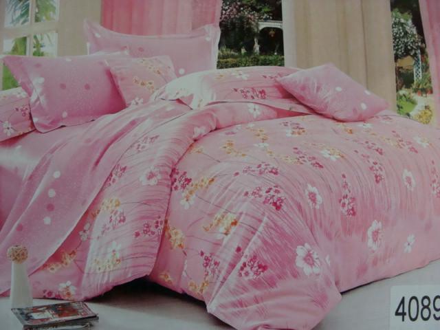 Сатиновое постельное белье семейное ELWAY 4089