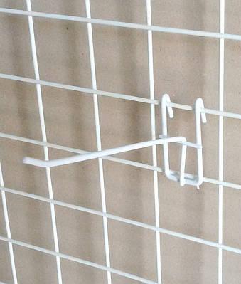 Крючёк на сетку (15 см. одинарный. металлопластик. прут 5.3 мм)