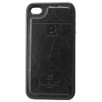 Чехол силикон-кожа Pierre Cardin iPhone 4S черный