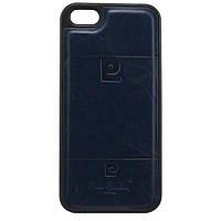 Чехол силикон-кожа Pierre Cardin iPhone 5S синий
