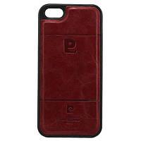 Чехол силикон-кожа Pierre Cardin iPhone 5S красный