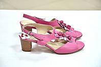 Розовые малиновые босоножки на низком каблуке Giorgio Ferri, фото 1