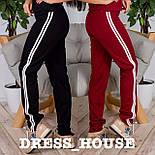 Женские модные штаны с лампасами (4 цвета), фото 2