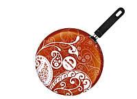 Сковорода блинная Granchio Crepe Ornamento оранжевая, 26 см (88274)