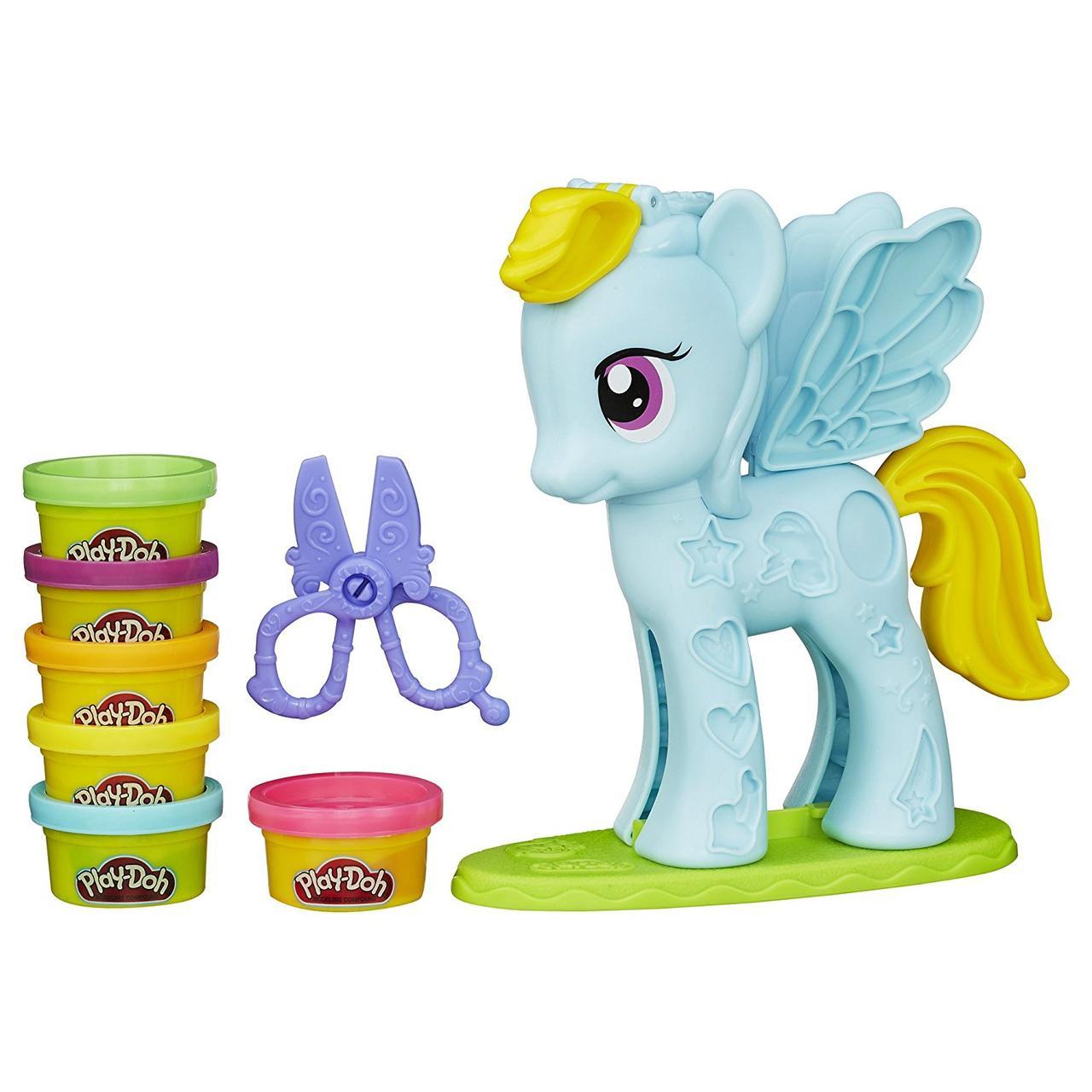 Плэй До Пони Рэйнбоу Дэш Стильный салон Play-Doh My Little Pony Rainbow Dash Style Salon