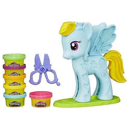 Плэй До Пони Рэйнбоу Дэш Стильный салон Play-Doh My Little Pony Rainbow Dash Style Salon, фото 2