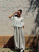 Летний женский костюм из натурального льна