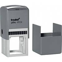 Оснастка Trodat Printy 4940/4924 40мм для круглой печати с футляром, т. Серый/серый