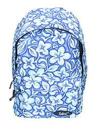 Ранец-рюкзак, 1 отд., 41*29*18см,600D PL, син-корич.,97022, SAF