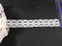 Кружево стрейч цвет белый 26 мм N01