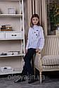 Блуза школьная c нашивками Elen Размер 146, фото 3