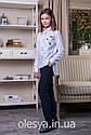 Блуза школьная c нашивками Elen Размер 146, фото 4