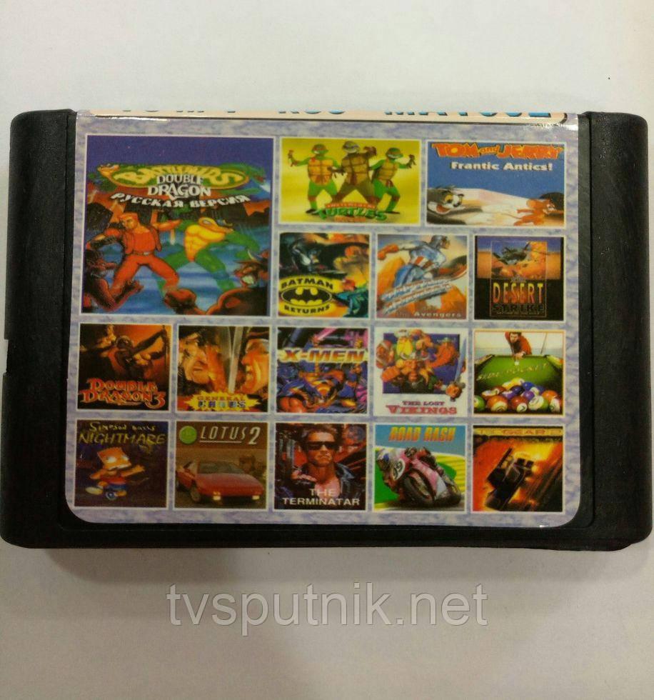 Картридж Sega 16bit Збірник 16 в 1 MA1602