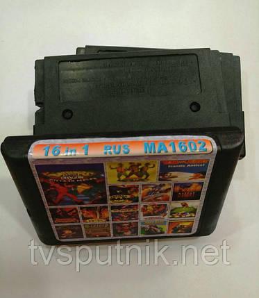 Картридж Sega 16bit Збірник 16 в 1 MA1602, фото 2