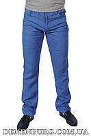 Брюки мужские (лён) LE GUTTI 6119 голубые