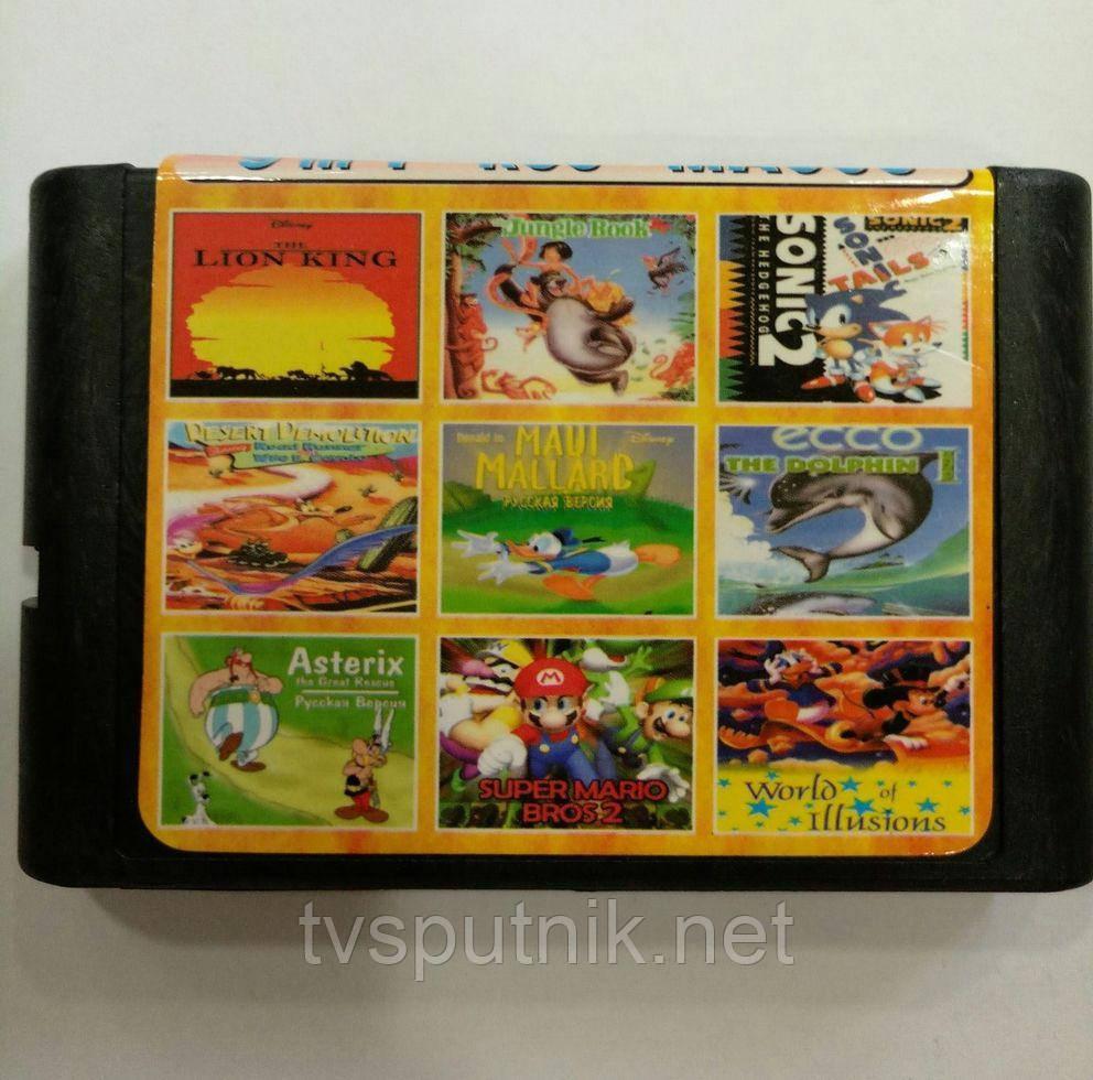 Картридж Sega 16bit Збірник 9 в 1 MA-903