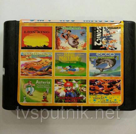 Картридж Sega 16bit Збірник 9 в 1 MA-903, фото 2