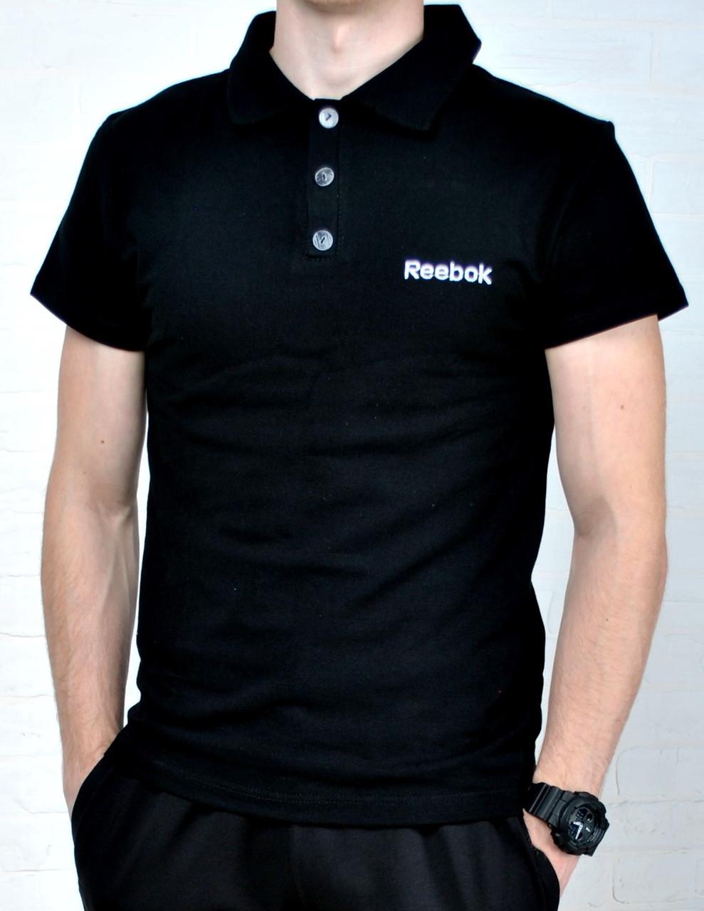 7b1485ff249aa Размер S, M !!!! Футболка Поло В стиле Reebok черная, цена 240 грн., купить  в Киеве — Prom.ua (ID#548253026)