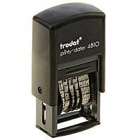 Минидатер цифровой Trodat 4810 Bank, черный 3.8 мм