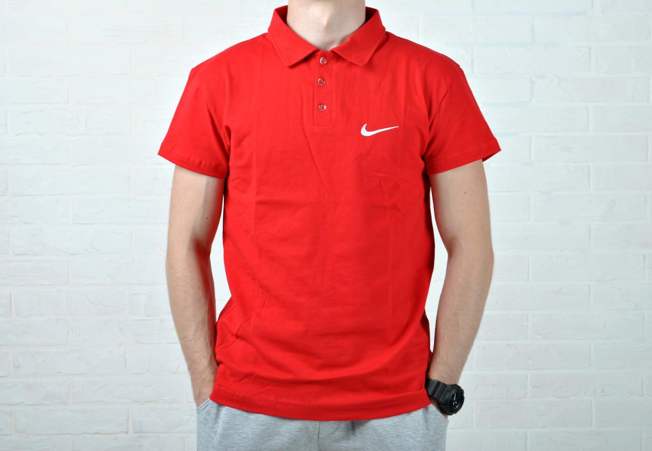 d7d1f7659aa9d Размер L и XL !!!! Футболка Поло В стиле Nike красная, цена 300 грн.,  купить в Киеве — Prom.ua (ID#548253031)
