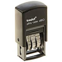 Минидатер Trodat 4810 Rus черный 3.8 мм