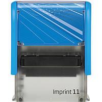 Штамп самонаборный Trodat Imprint 11 (38x14мм) 3 строки укр+рус синий