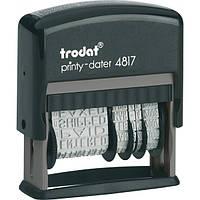 Датер Trodat с 12-ю бух. терминами 4817 Ukr черный, высота символов: 3,8 мм