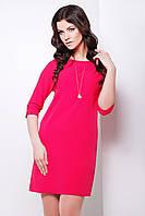 Платье красное прямого силуэта длиной до колена сукня Элика д/р