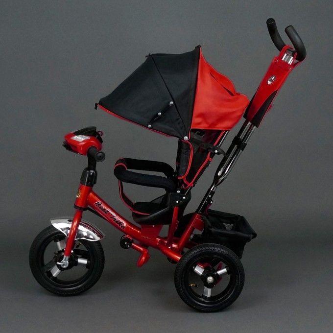 Велосипед трехколесный Best Trike 6588 В красный, надувные колеса, фар