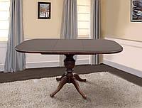 Стол раскладной Эмиль орех 105(+38)x75x74 овальный