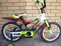 Детский велосипед 16 дюймов STITCH PREMIUM полусобранный
