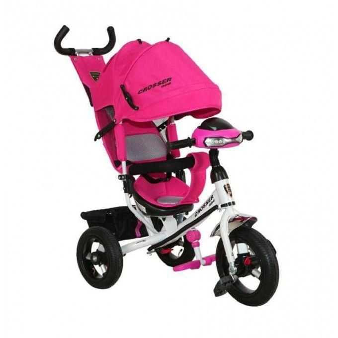 Велосипед детский трехколесный Azimut Trike Crosser One T1 ФАРА (надув