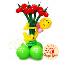 №10 Цветы из шаров-сердец Днепр