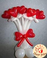 №16 Букет из шаров-сердец Днепр
