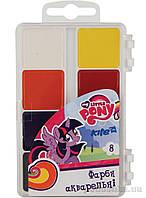 Краски акварельные Little Pony 8 цветов LP17-065 Kite