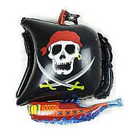 """Фигурный воздушный шарик """" Пиратский корабль"""" 65×52 см."""