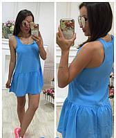 Женское  короткое платье в расцветке