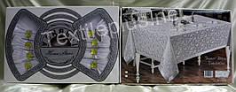 Скатерть Verolli + 8 салфеток с кольцами Турция (kod 1906)
