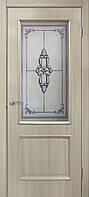 """""""Версаль"""" Двери ПВХ СС+КР СС+ФП ТМ Омис  Дуб беленый, 800, массив сосновых пород, ПВХ, Со стеклом"""