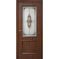 """""""Версаль"""" Двери ПВХ СС+КР СС+ФП ТМ Омис  Орех, 600, массив сосновых пород, ПВХ, Со стеклом"""