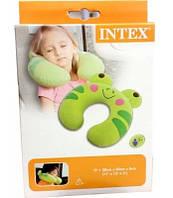 Подушка дорожная надувная Intex 68678, лягушка