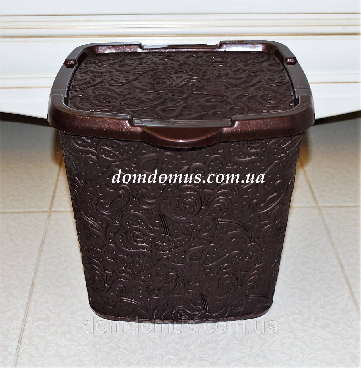 """Контейнер для порошка""""Ажур"""" Elif Plastik 383, коричневая"""