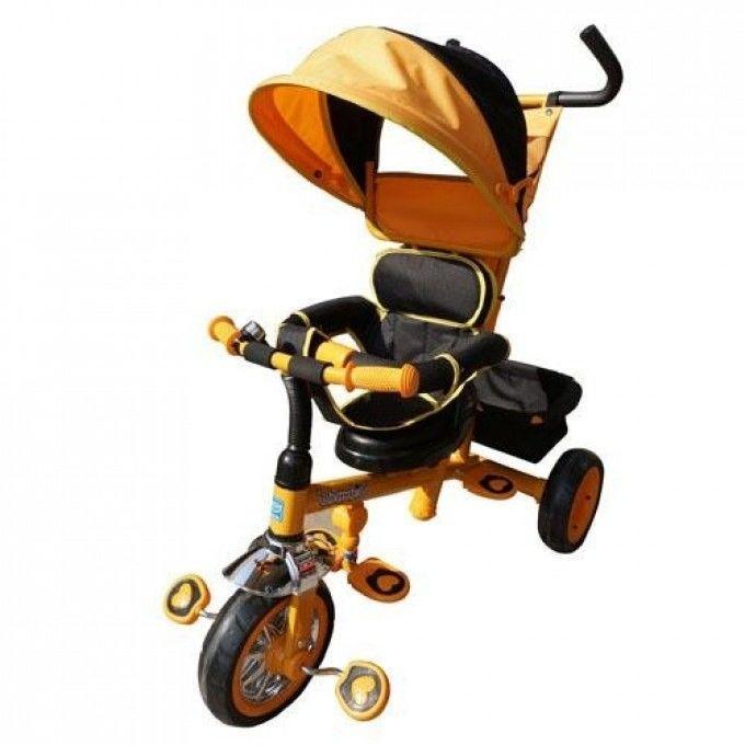 Детский трехколесный велосипед Bambi Оранжевый (B32-TM-2) с поворотным