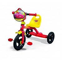 Детский трехколесный велосипед Disney Сars (0205C) с пластиковыми колесами
